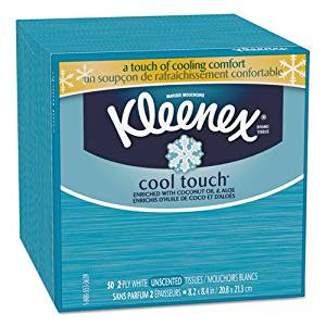 Wholesale CASE of 25 - Kimberly-Clark Cool Sensation Facial Tissue-Cool Sensation Facial Tissue, 3-Ply, 50 Tissues/BX, White