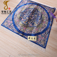 4'x4' high quality square carpets for sale, handmade silk carpet square persian style for 2017