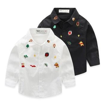 6c71231ef Simples Novo Estilo das crianças Projeto Dos Desenhos Animados Bordado Calça  Camiseta De Fábrica ...
