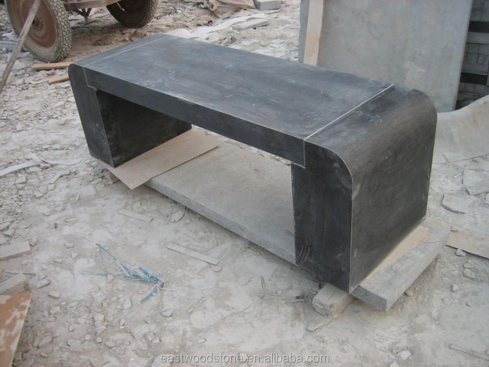 banco exterior de pizarra gris granito banco de jardn