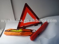 reflective safety item warning triangle for road, highway