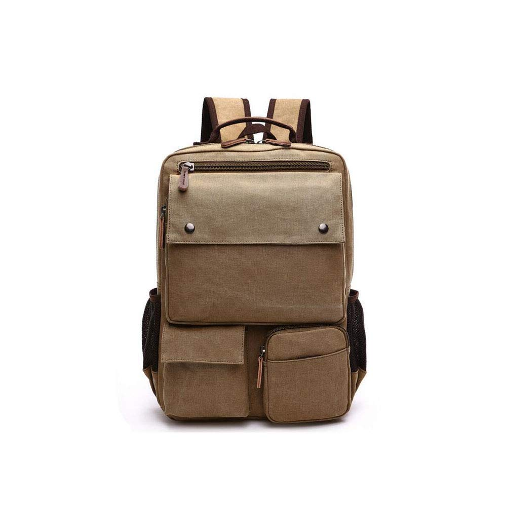 a82ec520018 New Men's Canvas Bag Fashion European and American Style Backpack Men's  Multi-Function Outdoor Men's
