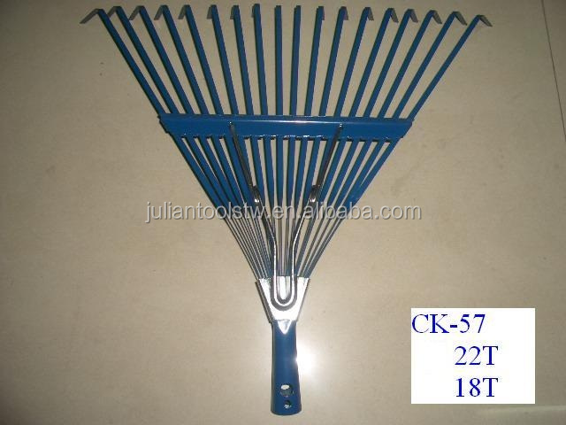 (PC-CK57-18T) IRON STEEL KD TYPE HAND LEAF RAKE