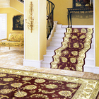 Persian style living room rug wool with silk home carpet
