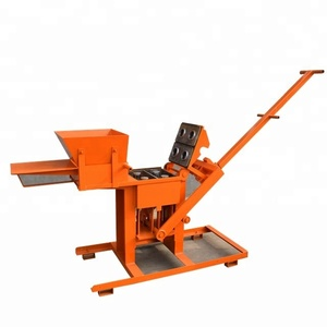 China made qmr 2-40 clay brick making machine soil earth compressed block moulding machine