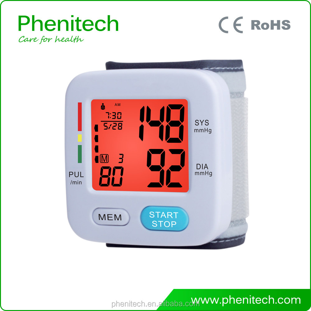 Medical wrist watch blood pressure monitor price BP207