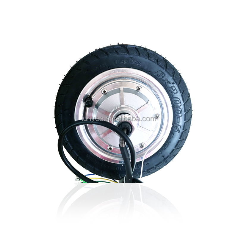 "Covered Motor Wheel For Folding Scooter Solid Tyre 8"" Size"