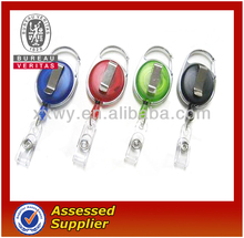 cheap designer retractable badge reels,popular promotional gifts