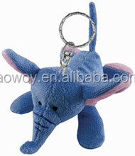 cheap 12cm blue elephant plush keychain stuffed animal plush and stuffed elephant toys with big ears