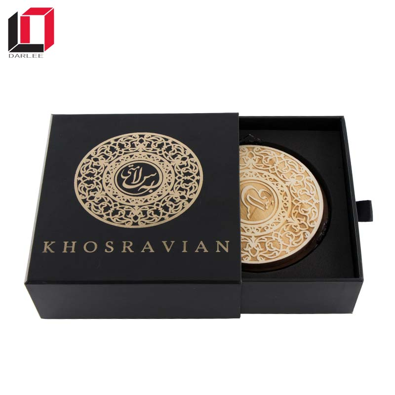 Get 100USD Coupon custom logo chipboard paper sliding drawer gift box for coasters