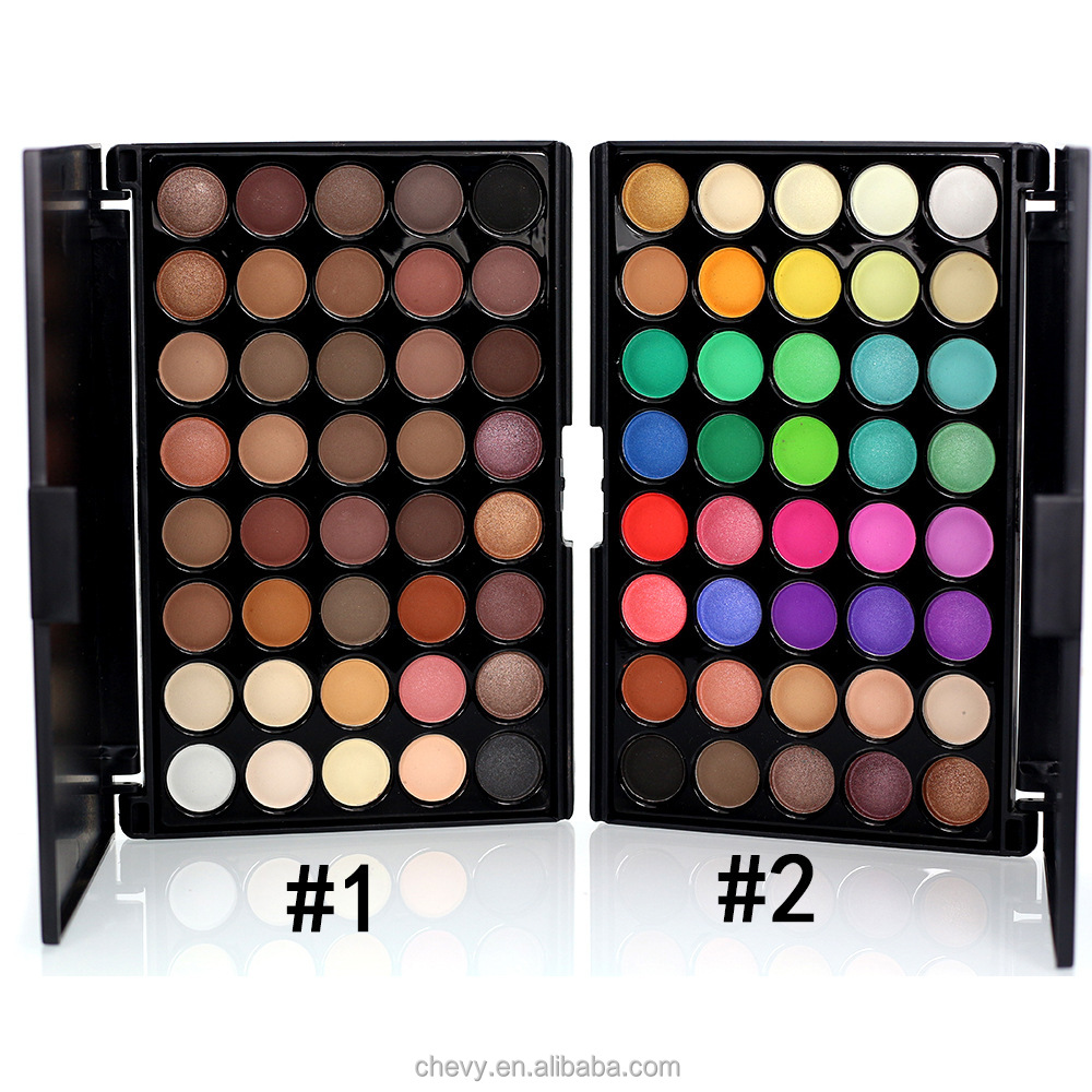 Good Selling Private Label Cosmetics OEM Accept pearl Color Eyeshadow Palette 40 Colors Set