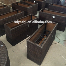 Fashionable Italy style outdoor rattan coffee table and chairs set daybed sofa