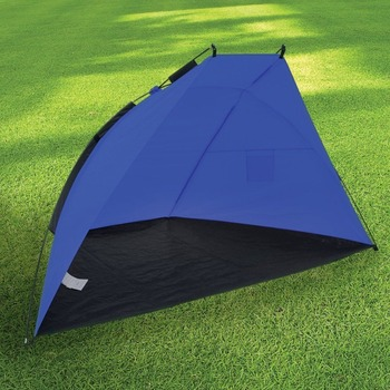 Rocvan Blue Fishing Beach Tent Garden Sun Canopy Shade Shelter Wind Break Screen