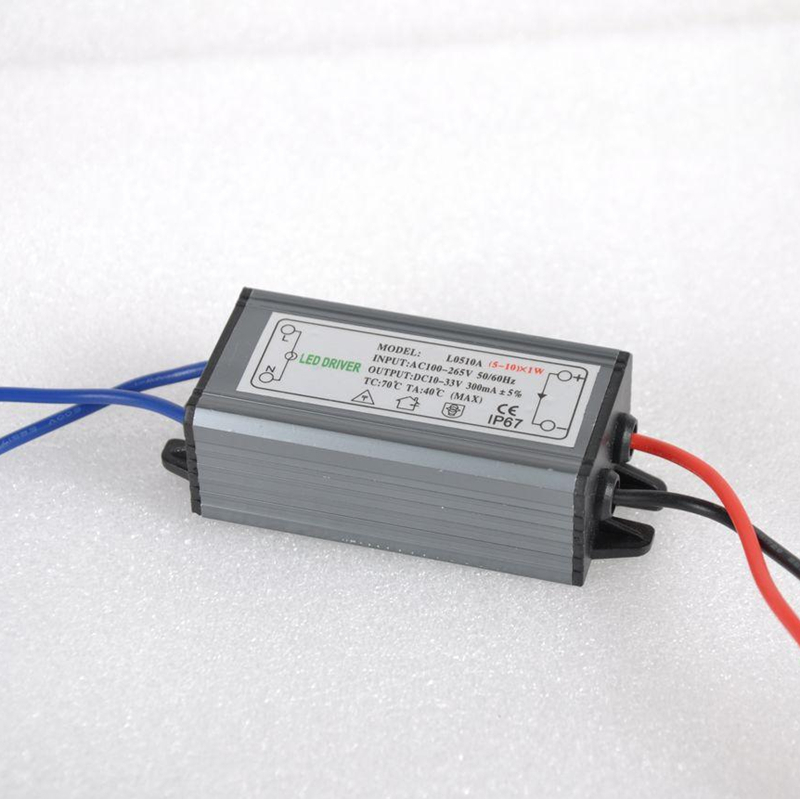 5-10W LED Driver Power Supply Waterproof IP67 Constant Current AC100-260V 300mA For 5-10W LED Bulb
