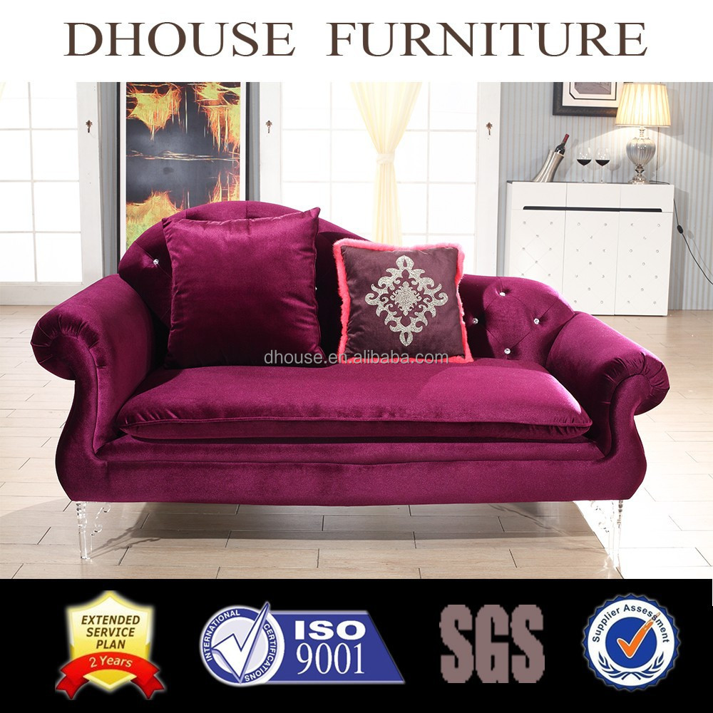Italian New Classic Red Fabric Leisure Chaise Lounge Sofa AL136