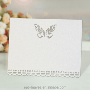 Laser cut Table Name Place Cards Favor Decor for Wedding Feasts Parties Butterfly Design
