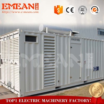 Factory Price Containerized Type 800kw Diesel Generator With 4008TAG2A Engine