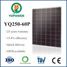 250w thin film solar cell panel
