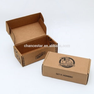 Custom printed brown kraft paper cardboard corrugated package box