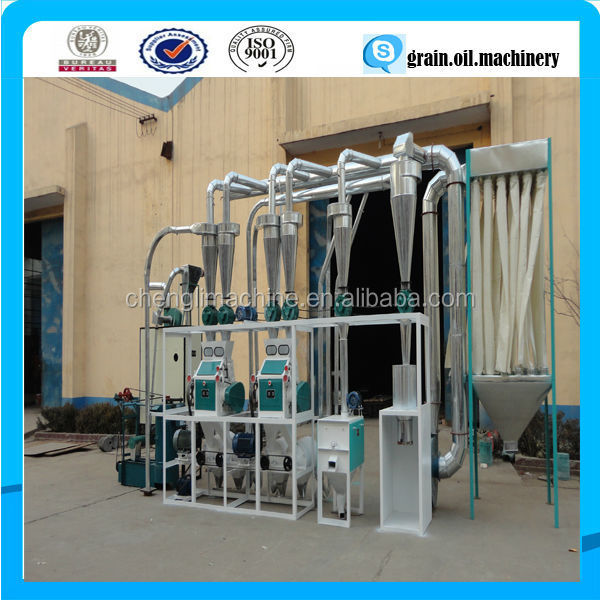 20-200 ton per day complete set wheat flour milling machines for wheat flour trading companies