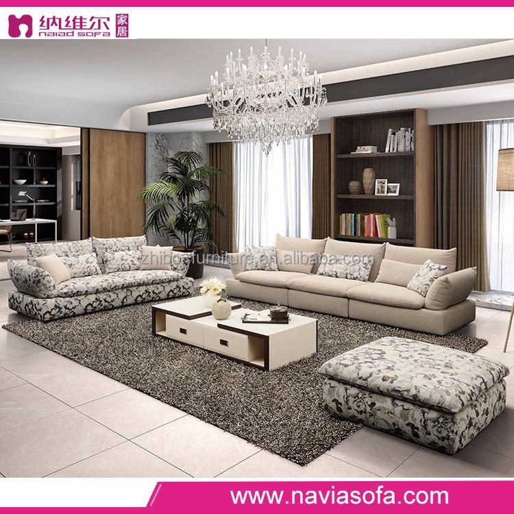 Mobília da sala de estar canto chic xadrez sofá secional sofá de 5 ...