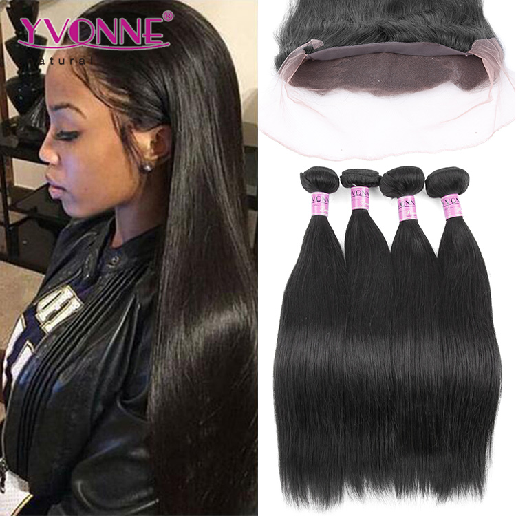 Yvonne top quality brazilian weave ear to ear lace frontal with bundles
