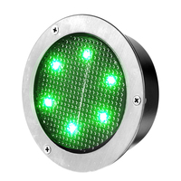 IP68 Highway Reflective Markers, PC Plastic Solar LED Panel Road Stud, Round Reflective Road Markers
