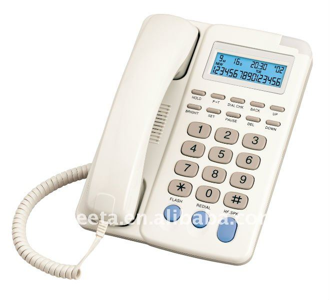 Desktop phone caller id phone with hearing aid parts