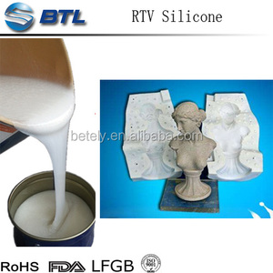 2 part liquid silicone rubber make mould for plaster
