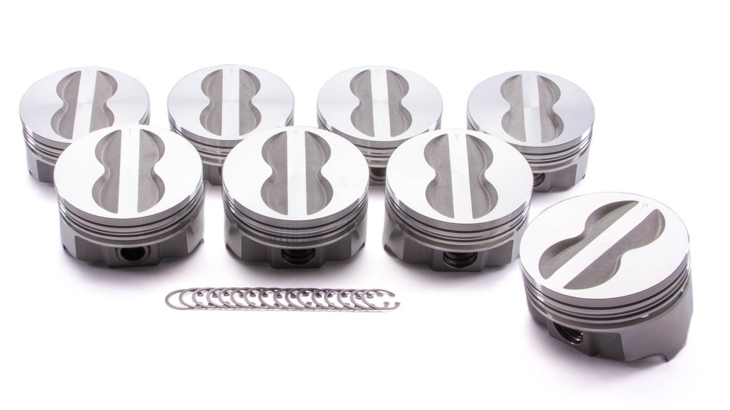 Buy Forged Flattop Pistons 350 Chevy SBC 4 060 Bore  060