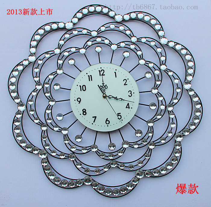 free shipping Watch iron wall clock brief fashion personalized watches and clocks fashion rustic mute clock  home decoration