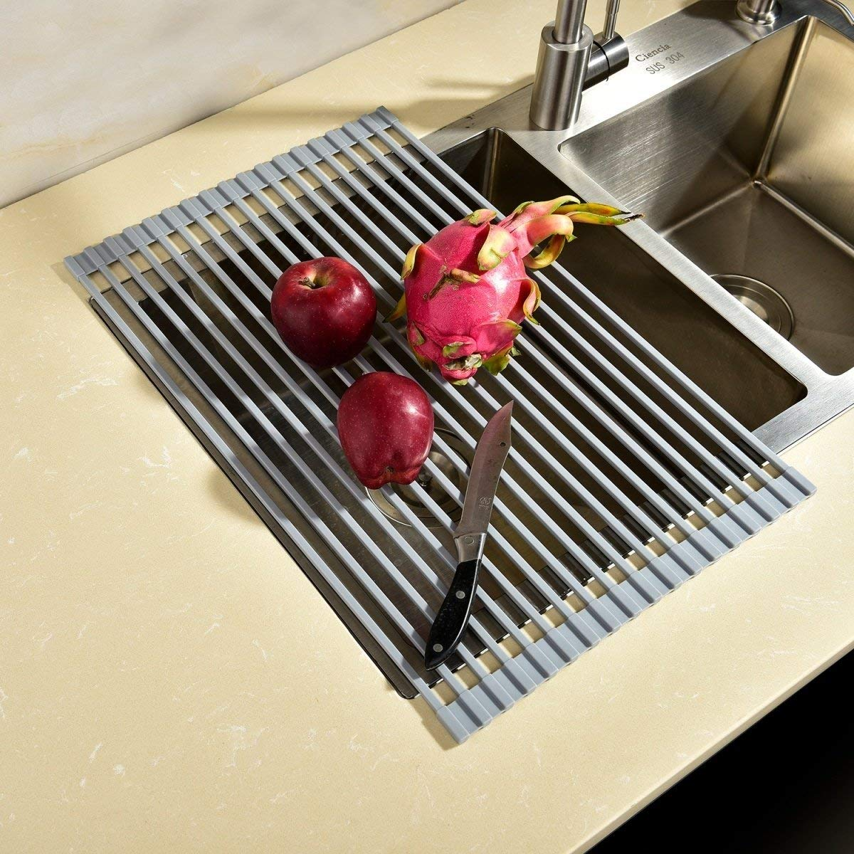 Buy CIENCIA Collapsible Dish Dryer Rack Grey Stainless Steel