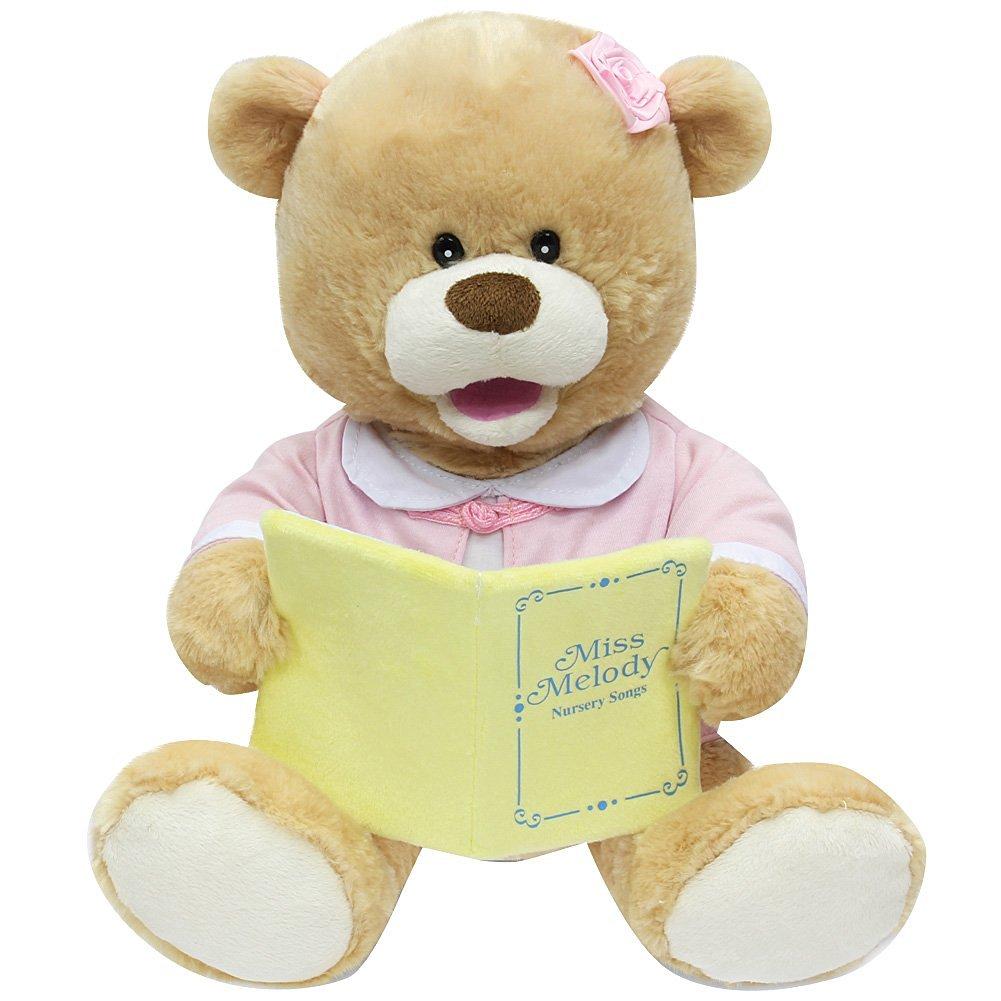 Cuddle Barn New Animated Singing Teddy Bear Plush Toy - Miss Melody