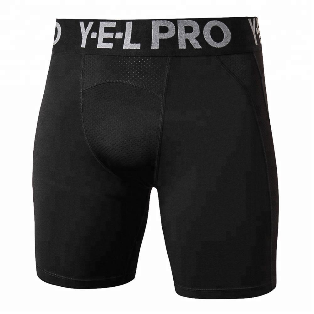 Wholesale Mesh Patchwork Breathable Men Underwear Running Training Tight Elastic Quick Dry Gym Sportswear Shorts Leggings фото