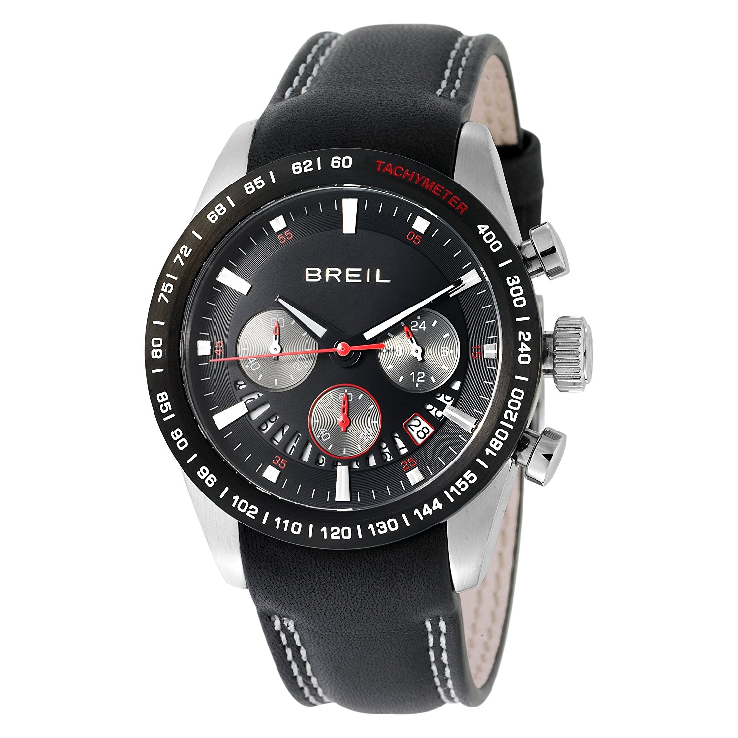 97c0af939a01 Get Quotations · Breil Milano Men s TW0678 Speed One Analog Black Dial Watch