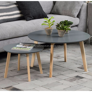 Peachy Scandinavian Small Round Solid Pine Wood Coffee Table With Grey Mdf Top Buy Grey Pine Coffee Table Product On Alibaba Com Unemploymentrelief Wooden Chair Designs For Living Room Unemploymentrelieforg
