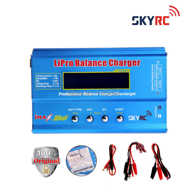 Free Shipping 100 Original SKYRC IMax B6 With T Plug Digital LCD Lipo NiMh Battery Balance