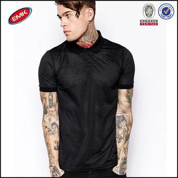 Korean Men Fashion Polo Shirt Design By Mesh Fabric View Fashion