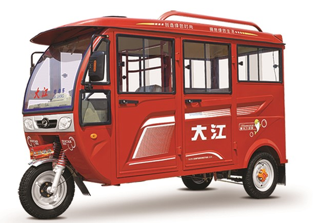 2016 China new design hot sell closed cabin electric passenger motor tricycle tuk tuk with MP3 player