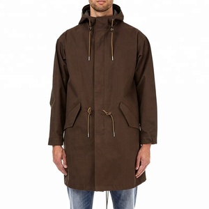 Mens windproof winter long Coats & Jackets Khaki Oversized