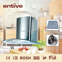 wall mount canopy stainless steel cooker hood