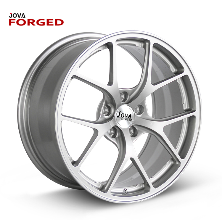 6061 Forged 5 Spokes Staggered Full Painting 20 Inch White Rims
