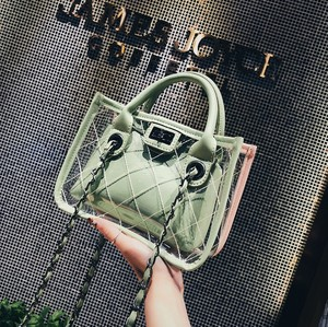 Women summer new fashion PVC Transparent handbag for 2018