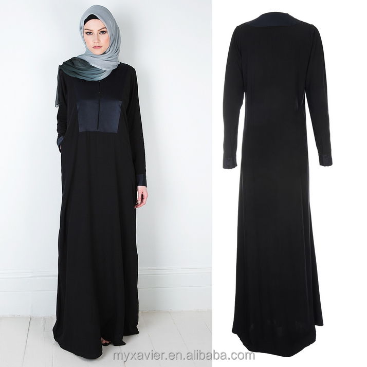 women classy and chic satin fusion abaya with a casual flare style for elegant women abaya