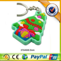 Design Christmas Gift 3D Rubber PVC Custom Keychain