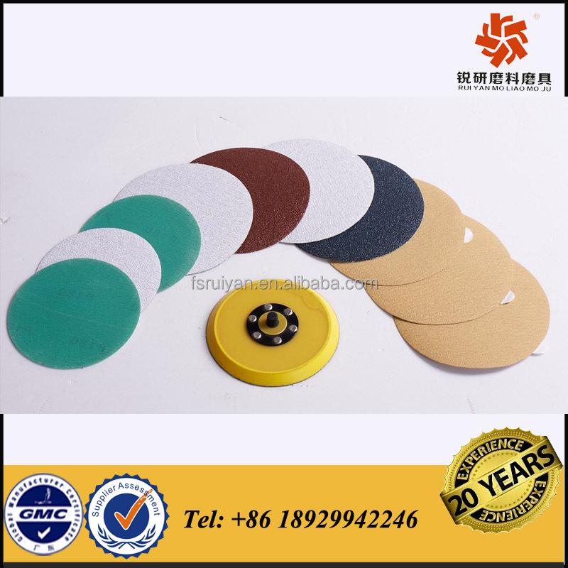 sandpaper disc pads for wood, vehicles, metal and paint removal made in china