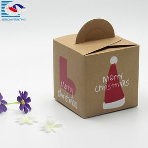 Christmas kraft paper candy and apple gift packaging box