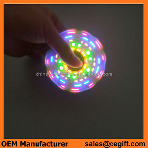 New Design LED spinner with colorful lights, variety of shape of lights