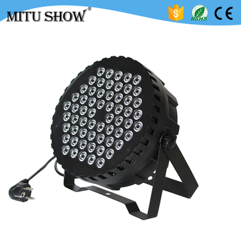 60*1w led flat par light RGB 3in1 china led par can for stage wash effect