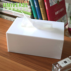 UNIVERSE custom plexiglass cube color acrylic frost tissue box